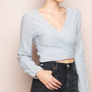 Brandy Melville Coco Wrap Top.